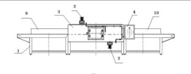 Schematic diagram of industrialized microwave thawing equipment